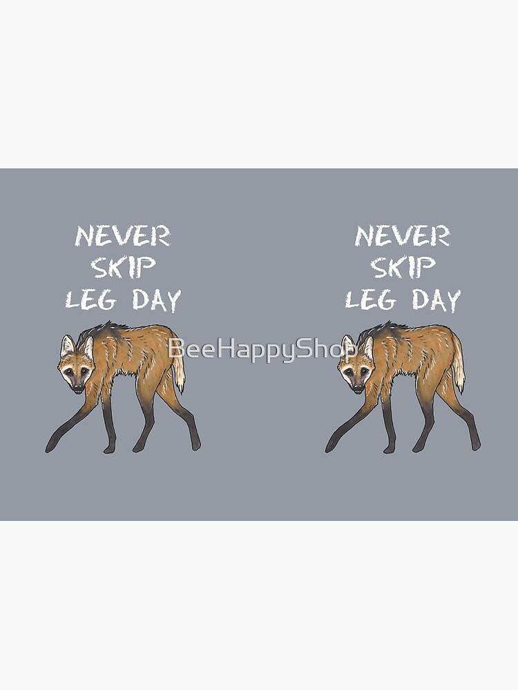 Maned wolf - Animal series by BeeHappyShop