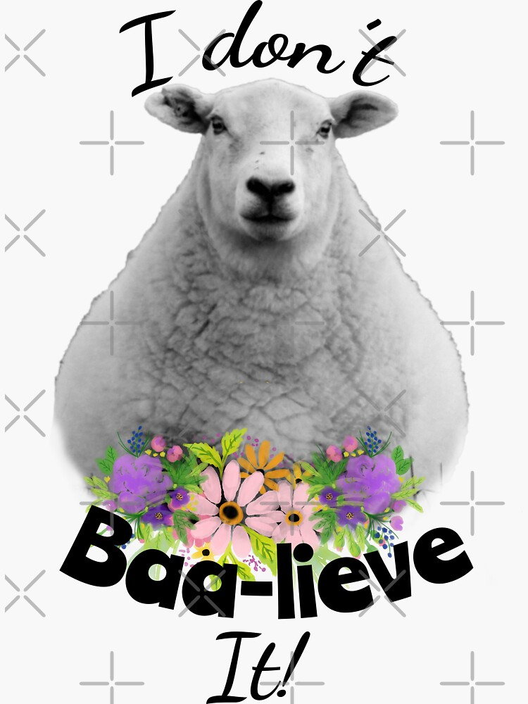 I don't Baa-lieve It! Sheep by tribbledesign