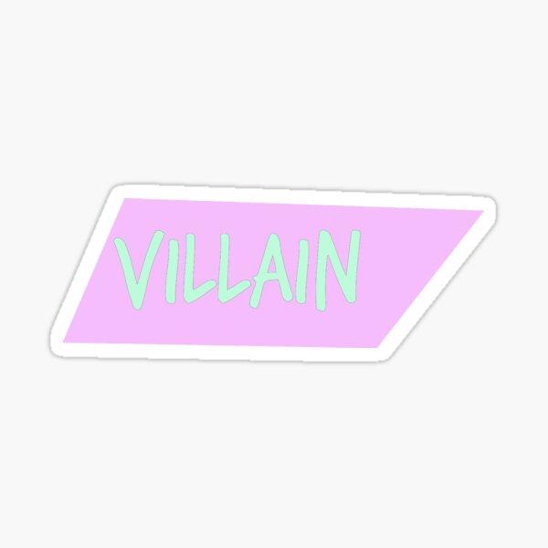 Villanos Pastel Series Skewed Box # 1 Pegatina