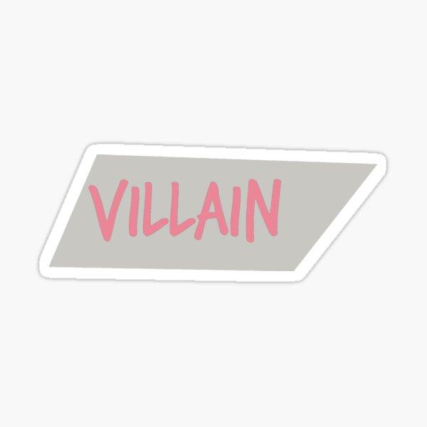 Villanos Pastel Series Skewed Box # 4 Pegatina