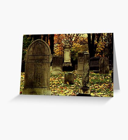 Cemetary in Michigan Greeting Card