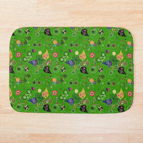 Cycledelic Green Bath Mat