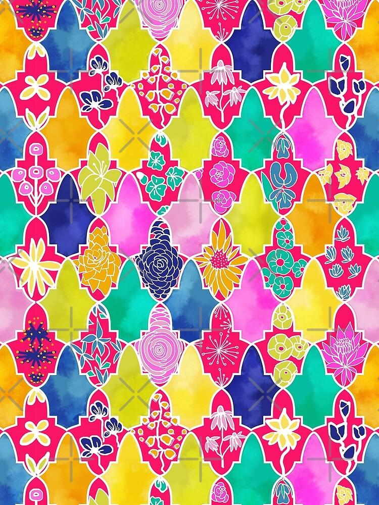 Marrakesh Floral Tiles by Stasiajahadi
