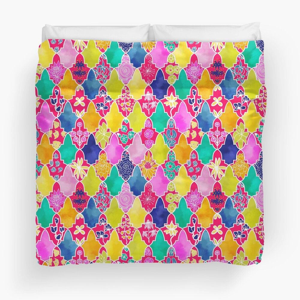 Marrakesh Floral Tiles Duvet Cover