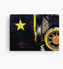 Cause out on the edge of darkness, there rides a peace train Canvas Print