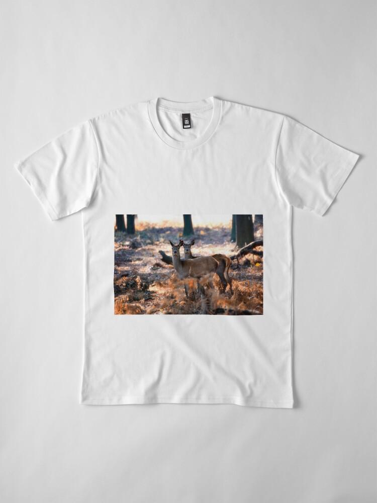 Alternate view of Double Deer Premium T-Shirt