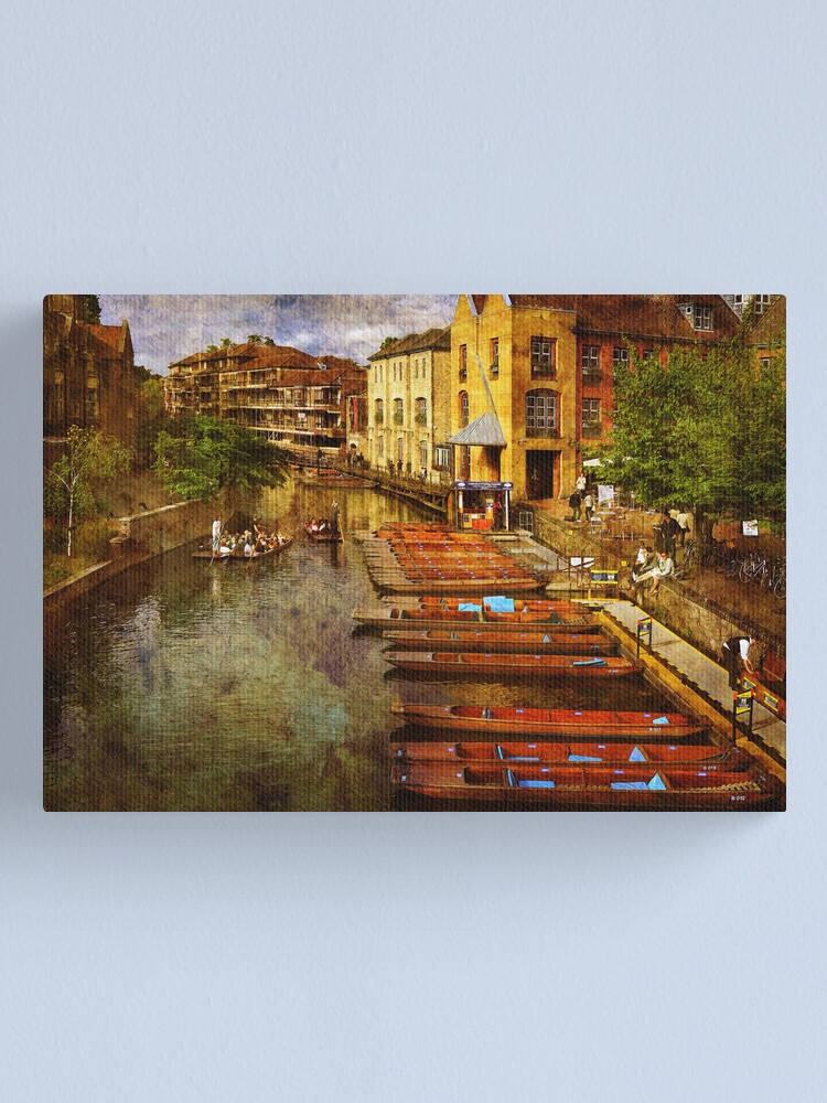 Alternate view of Punting on the Cam Canvas Print