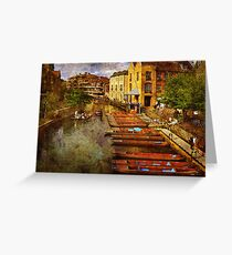 Punting on the Cam Greeting Card