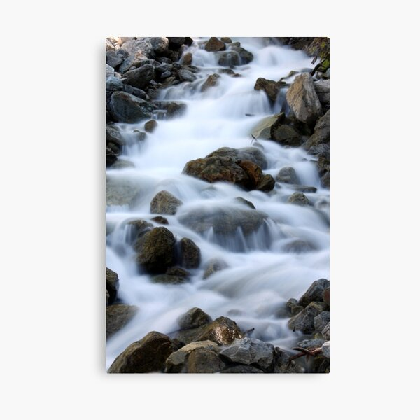 Waterfall below Lac Lauvitel, Ecrins National Park, France Canvas Print
