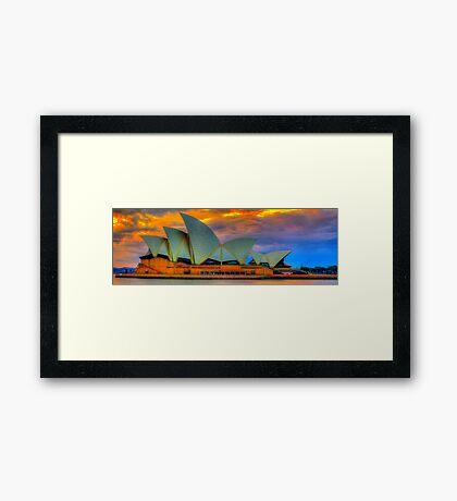 Psychedelic  Diva - Sydney Opera House , Sydney Australia - The HDR Experience Framed Print