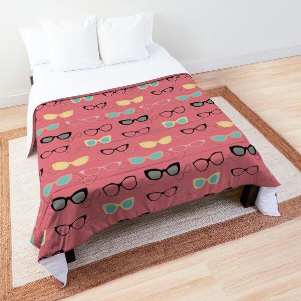 1950's Specs on Pink Flamingo Comforter