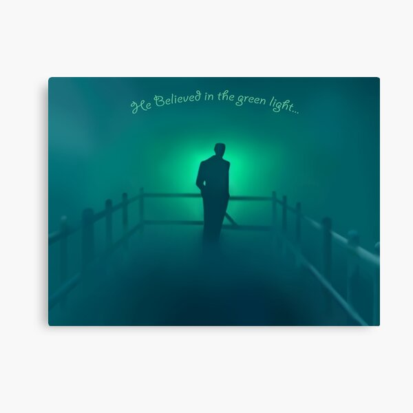 The Great Gatsby - He believed in the green light Canvas Print