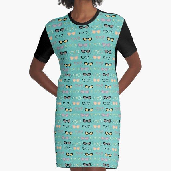 1950's specs Graphic T-Shirt Dress