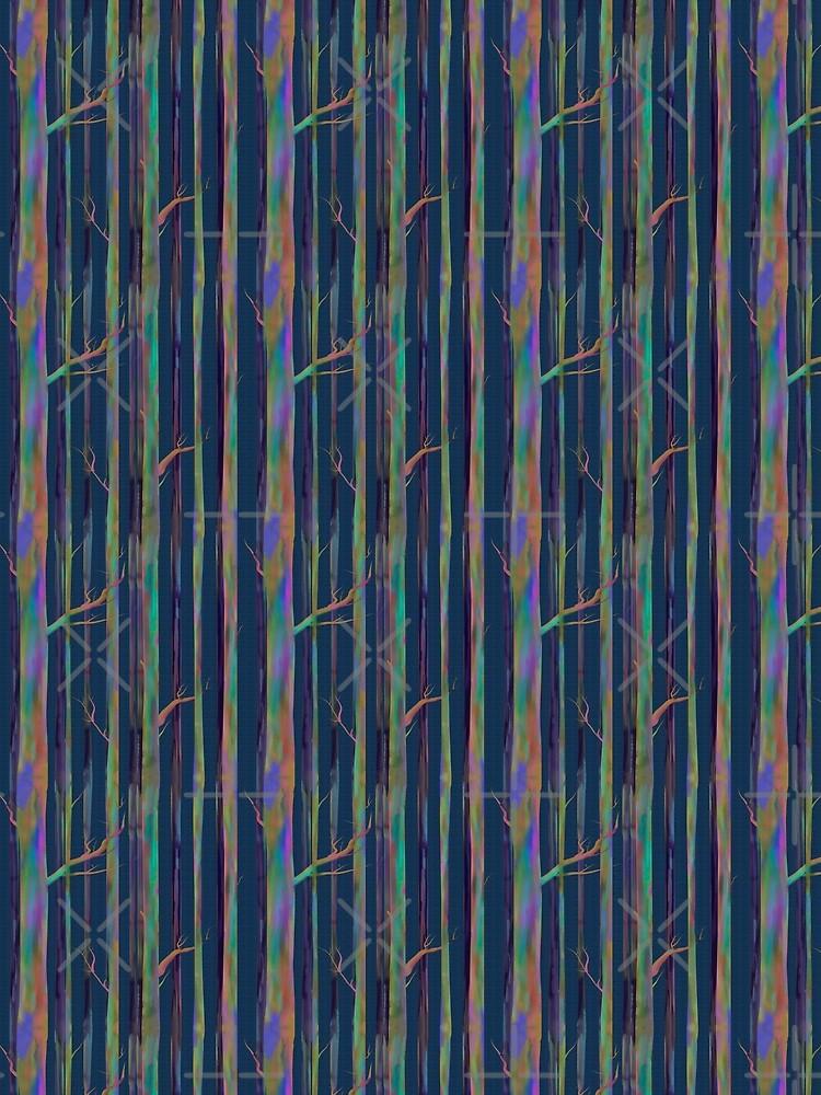 Rainbow Eucalyptus trees by Stasiajahadi