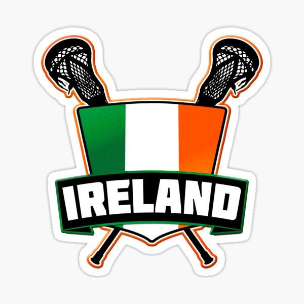 Ireland Lacrosse Flag Logo, LAX Sticker
