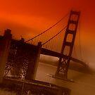 Golden Gate Bridge Sunset by Luuezz