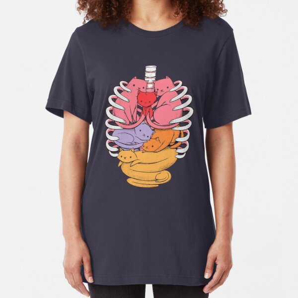 Organs made out of cats Slim Fit T-Shirt