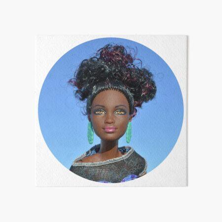 Barbie diosa hermosa africana Lámina rígida