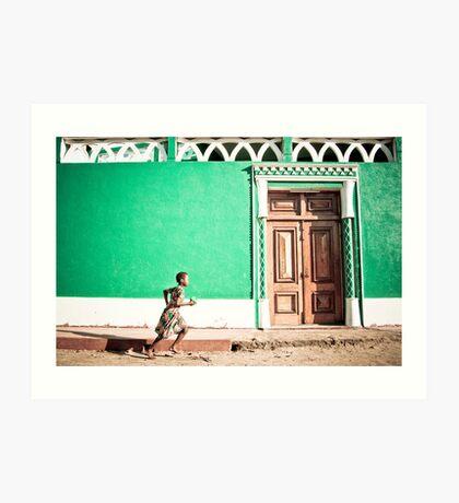 Girl at Green Mosque (IlhaMoç) Art Print