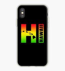 Big Hawaii HI - Rasta Surfer Colors iPhone Case