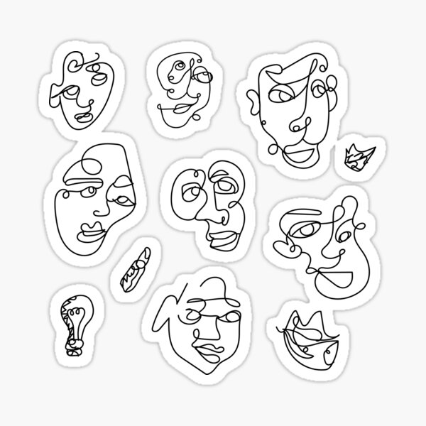 Picasso Faces Pack - Spaced Out Sticker