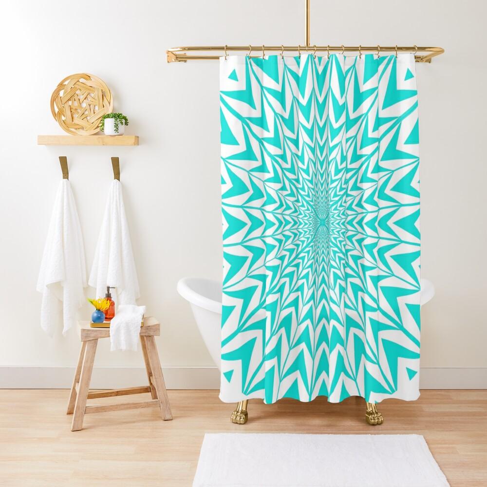 #Design, #abstract, #pattern, #illustration, psychedelic, vortex, modern, art, decoration Shower Curtain