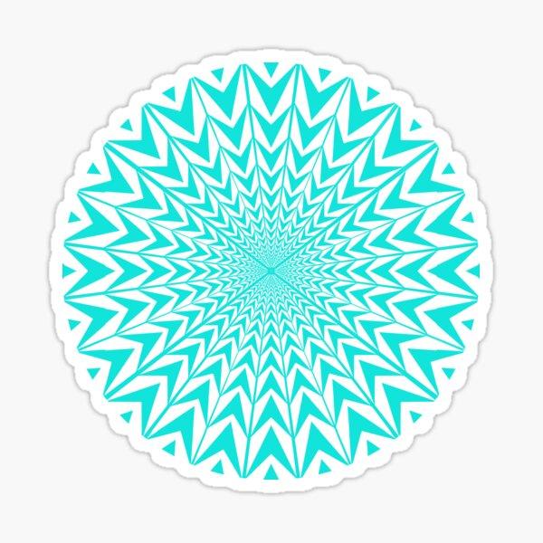 #Design, #abstract, #pattern, #illustration, psychedelic, vortex, modern, art, decoration Sticker