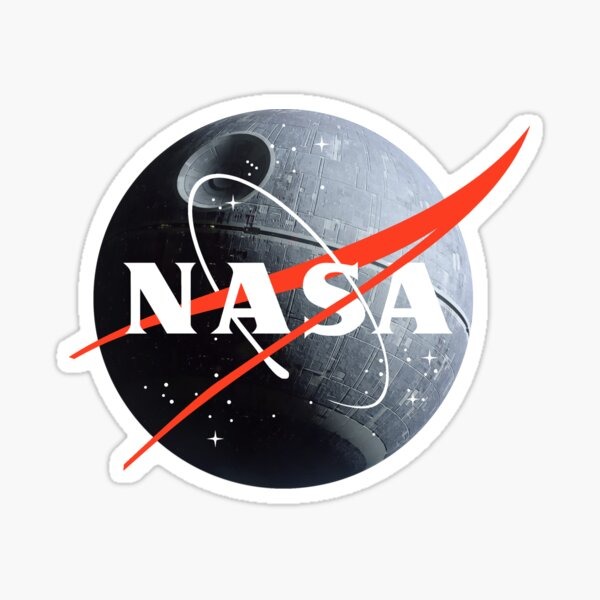 NASA death star Sticker
