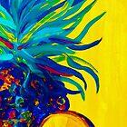 «Pintura abstracta azul piña» de EloiseArt