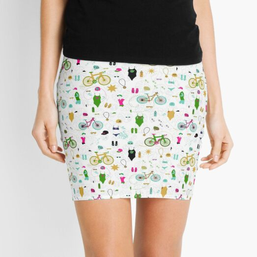 Swim Bike Run Smaller Summer Print Mini Skirt