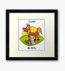 I Love My Pets Framed Print