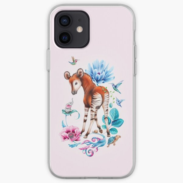 Young okapi by Maria Tiqwah iPhone Soft Case