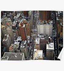 New York City Streetscape Poster