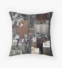 New York City Streetscape Throw Pillow