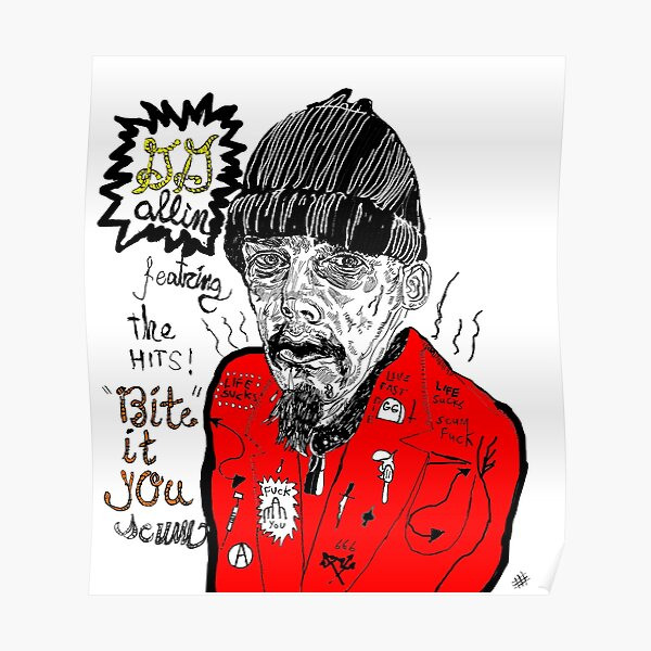 GG Allin goes country Poster