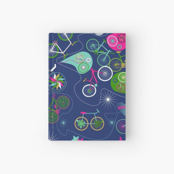 Cycledelic Blue Hardcover Journal