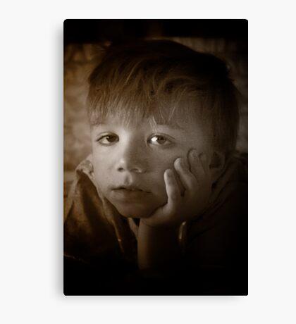 The Contemplative Toddler Canvas Print