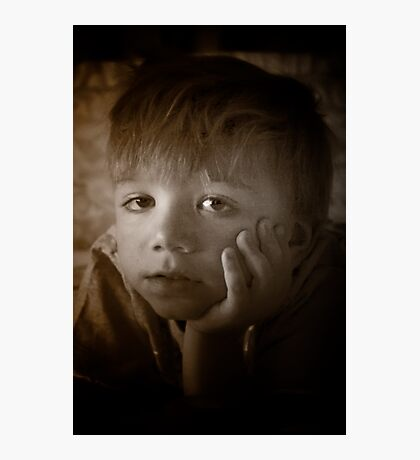 The Contemplative Toddler Photographic Print