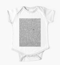 Grunge of Steel and Paint - Abstract Art One Piece - Short Sleeve