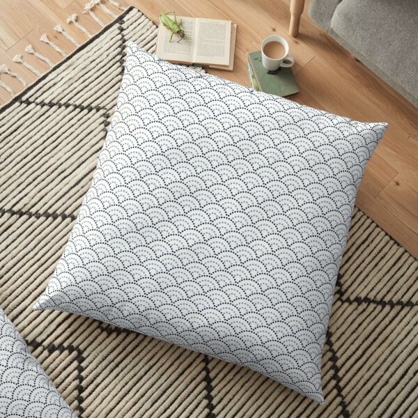 Seigaiha Embroidery // Japanese Collection Floor Pillow