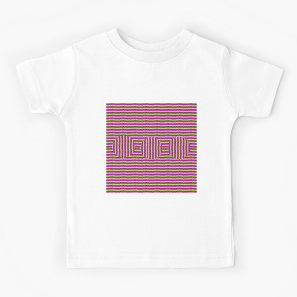 Op art - art movement, short for optical art, is a style of visual art that uses optical illusions Kids T-Shirt