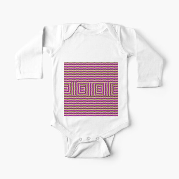 Op art - art movement, short for optical art, is a style of visual art that uses optical illusions Long Sleeve Baby One-Piece