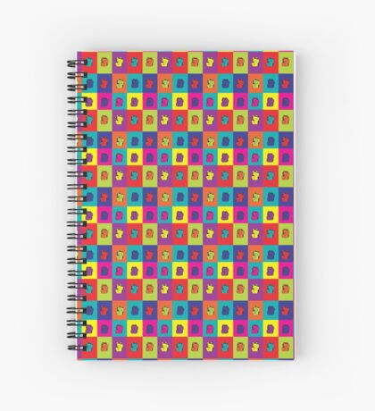 Maneki Neko Kitty Rainbow Pop Art Spiral Notebook