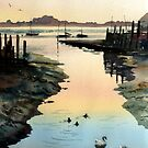 Bosham Evening Light by Ann Mortimer