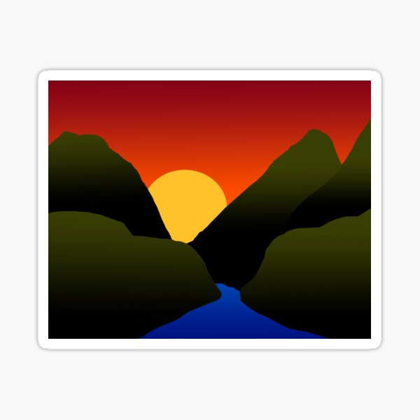 Mountain Sunset Sticker