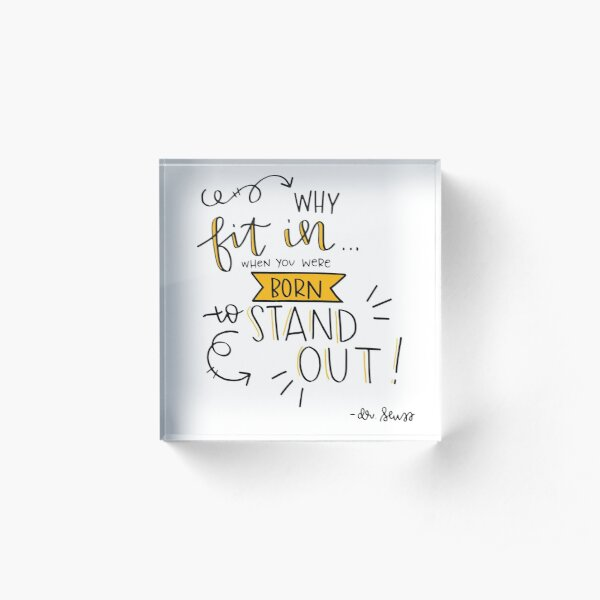 STAND OUT Acrylic Block