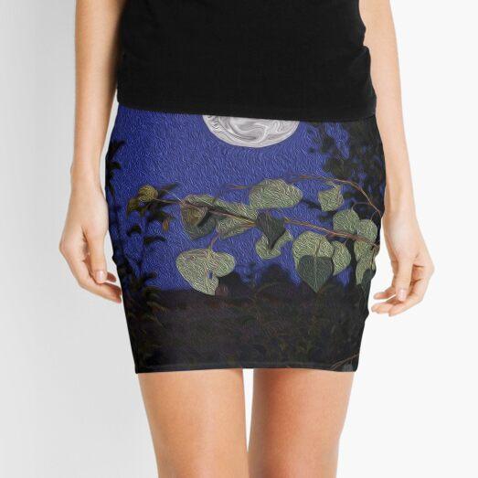 Full Moon, Tranquility, home decor, wall decor Mini Skirt