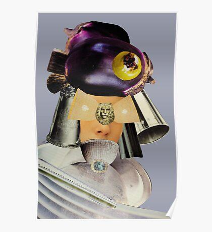 eggplant head grey Poster