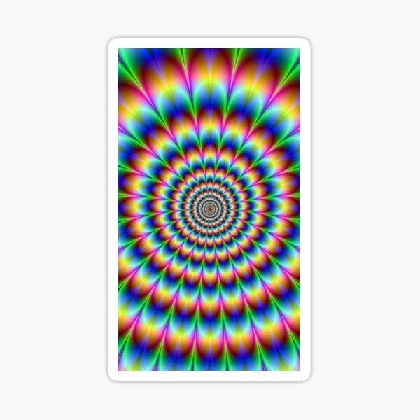 Trippy Hallucinogenic Optical Illusion - Тройной  галлюциногенный обман зрения Sticker
