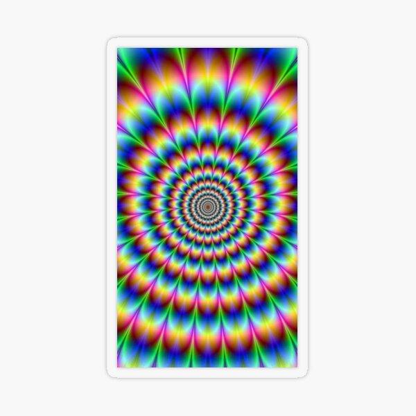 Trippy Hallucinogenic Optical Illusion - Тройной  галлюциногенный обман зрения Transparent Sticker